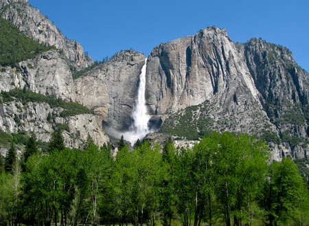 Panorama of Yosemite Falls in the national park Stock Photo - 5300255