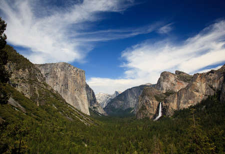 View down Yosemite Valley to Half Dome from Tunnel Overlook Stock Photo - 5300259