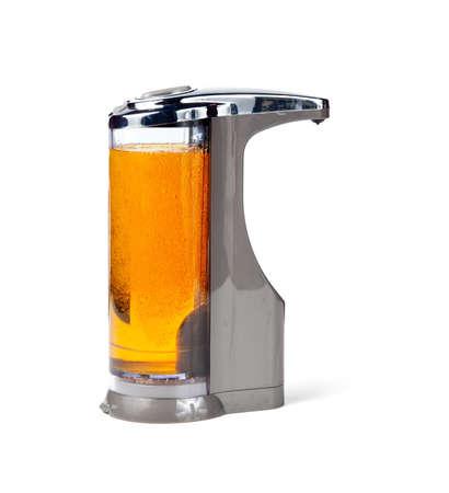 desinfectante: Jab�n moderno o desinfectante dispensador que funciona a trav�s de un sensor  Foto de archivo