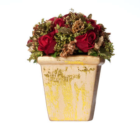 Isolated decoration with roses and gold elements for Christmas centerpiece Stock Photo - 6078409