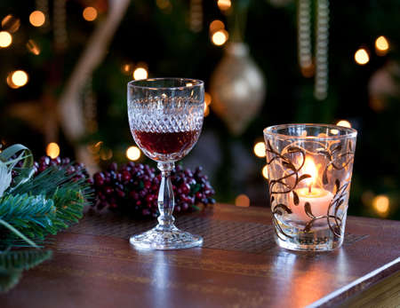 christmas sock: Glass of sherry or wine