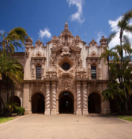 balboa: Detail of the carvings on the Casa de Balboa building in Balboa Park in San Diego