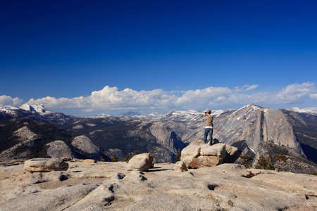 sentinel: View from Sentinel Point over Yosemite valley