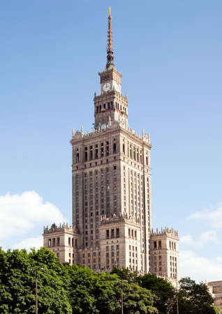 culture: The Palace of Culture and Science in Warsaw Poland was donated by Stalin in 1955