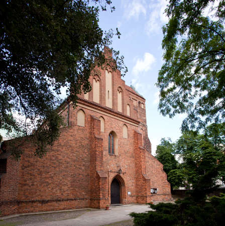 restored: Old restored church of the Visitation of the Virgin Mary in New Town Warsaw in Poland Stock Photo
