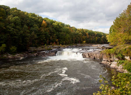 western state: Ohiopyle in Pennsylvania on the Youghiogheny river in early fall