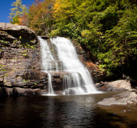 cascade: Muddy Creek falls in Swallow Falls State Park in Maryland USA Stock Photo