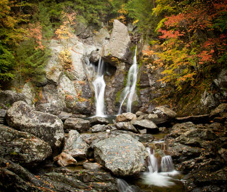 bash: Bish Bash Falls in Massachusetts in the Berkshire County Stock Photo