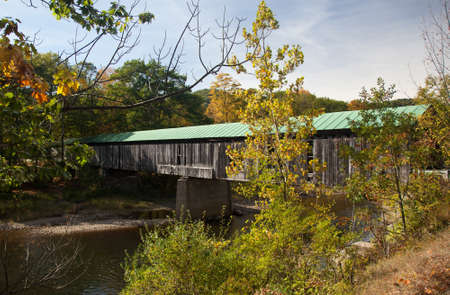 The Scott covered bridge near Townshend in Vermont photo