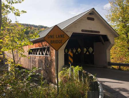 Covered Bridge in Dummerston near Brattleboro in Vermont photo