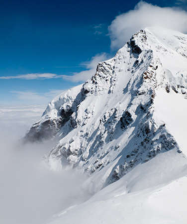 Peak of Jungfraujoch in Swiss Alps photo