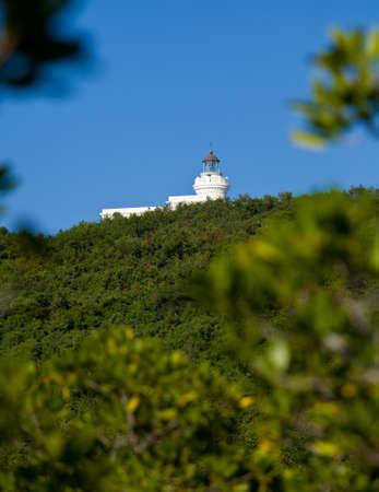 Cape San Juan lighthouse on north east corner of Puerto Rico near Cabo Rojo photo