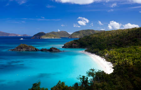 island: Trunk Bay on the Caribbean island of St John in the US Virgin Islands