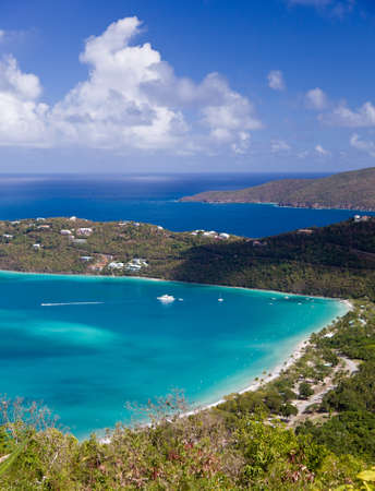 thomas: View of Magens Bay - the world famous beach on St Thomas in the US Virgin Islands