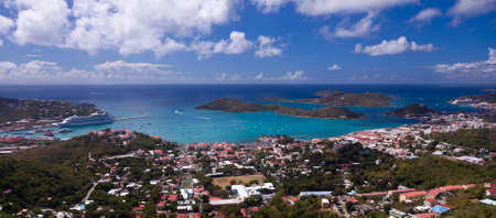 thomas: Aerial view of Charlotte Amalie Harbour in St Thomas