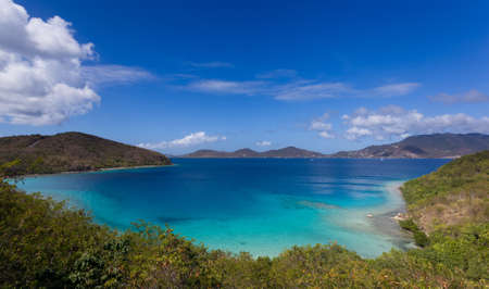 leinster: View along National Park coast on the Caribbean island of St John in the US Virgin Islands