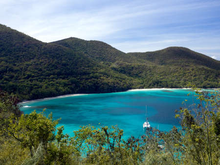 caribbean island: Hawksnest Bay on the Caribbean island of St John in the US Virgin Islands