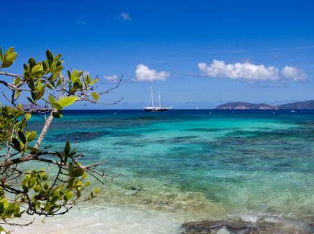 the virgin islands: Hawksnest Bay on the Caribbean island of St John in the US Virgin Islands