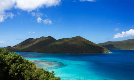 virgin islands: Leinster Bay on the Caribbean island of St John in the US Virgin Islands Stock Photo