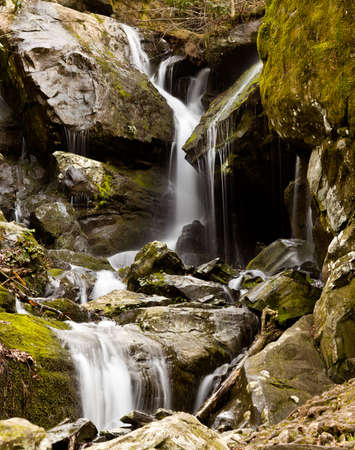 Waterfall in the place of a thousand drips near Gatlinburg in Smoky Mountains photo