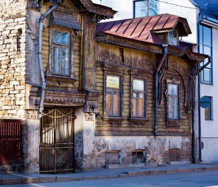Old ruined building in Tallinn Estonia for sale as a fixer-up Banco de Imagens