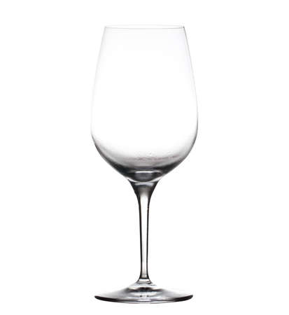 goblet: Chilled isolated wine goblet with small droplets of condensation on the outside of the glass