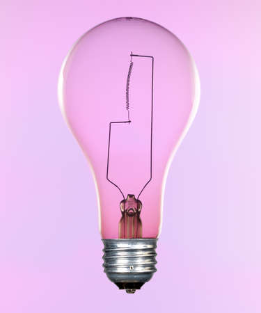 filaments: Glass incandescent tungsten filament light bulb due to be replaced due to energy concerns