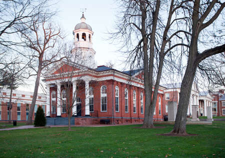 courthouse: Old brick court house in Leesburg Virginia in the USA at dusk Stock Photo