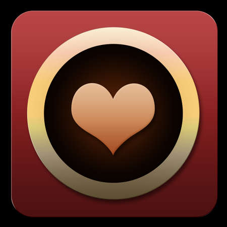 Image for an icon on a pad or smart phone for an app for lonely hearts photo