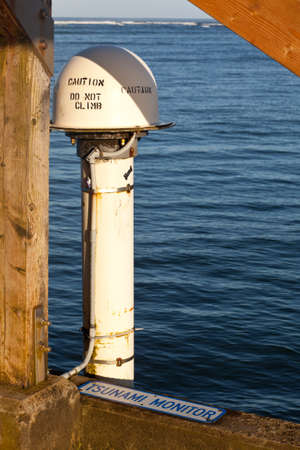 installed: Tsunami monitor installed on pier in Hanalei in Kauai
