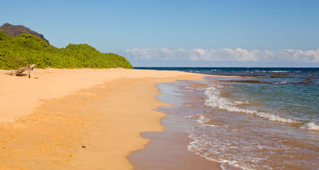 Mahaulepu beach near Poipu on south coast of Kauai photo