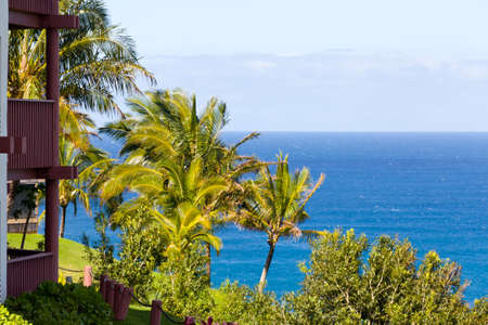 timeshare: Holiday apartments overlook the sea in Kauai