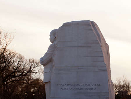 assassinated: Washington, DC - February 13: Monument to Dr Martin Luther King on February 13, 2012. Government agreed  on Feb 12 to change the Drum Major words on the statue