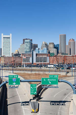 BOSTON, USA - MARCH 22: The city of Boston from World Trade Center station on March 19, 2012. The station opened Dec 17, 2004
