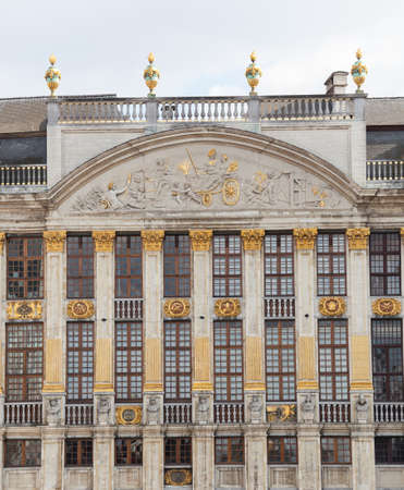 Detail of roof and statues on  a Vent in Grand Place in Brussels