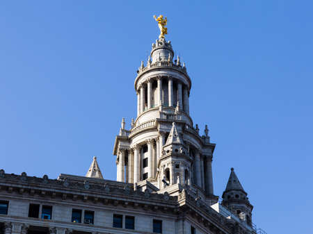municipal court: Statue of Civic Fame on roof of Municipal Building in New York City