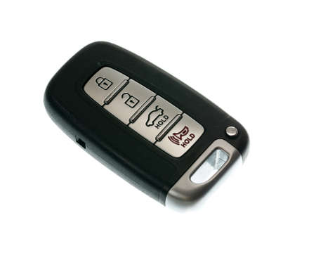 fob: Black modern car door opener and keyless entry device