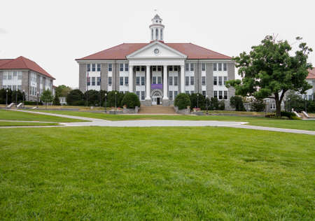wilson: HARRISONBURG, VA - July 11. Wilson Hall at JMU on July 11, 2012. The is named after President Wilson and completed in 1931 Editorial