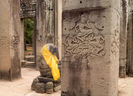 bayon: Bayon Temple in Angkor Thom near Siem Reap in Cambodia