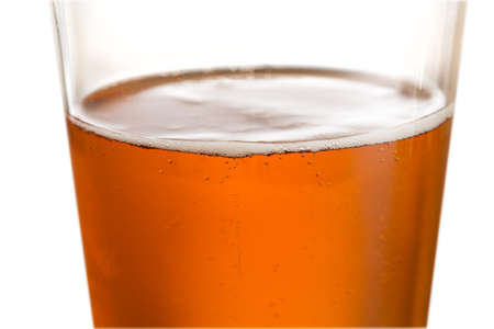 ipa: Cool glass of beer or lager with macro focus on the bubbles around surface Stock Photo
