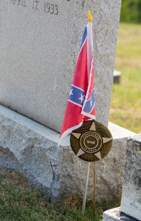Gravestones of confederate civil war veterans in St Ignatius  church in the USA in Maryland Stock Photo - 14946139