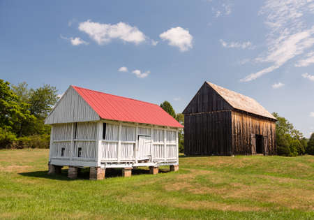National Historic site Barns at home of Thomas Stone Stock Photo - 14939177
