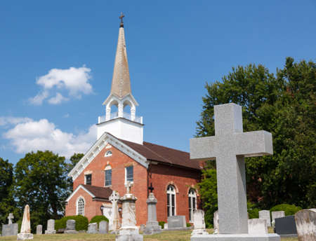 St Ignatius church is the oldest continuously used church in the USA in Maryland Stock Photo - 14946101