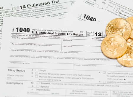 Irs 1040 Tax Form With Red Tax Reform Stamp Stock Photo Picture And