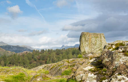 Panoramic view over Tarn Hows in English Lake District Stock Photo - 15363469
