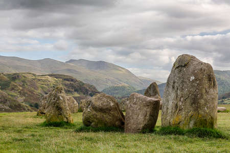 cumbria: Castlerigg prehistoric stone circle near Keswick in Lake District