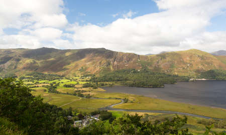 Panorama of Derwentwater in English Lake District from viewpoint in early morning Stock Photo - 15363473