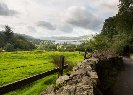 cumbria: View over Coniston Water in English Lake District Stock Photo