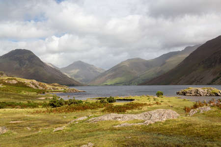 Wastwater or Wast Water in English Lake District on cloudy day Stock Photo - 15363440