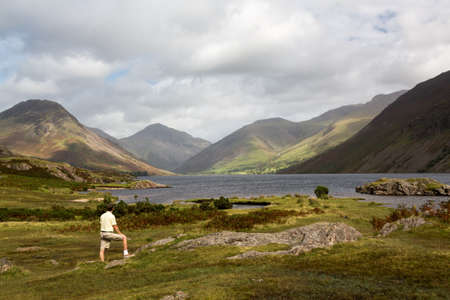 Wastwater or Wast Water in English Lake District on cloudy day Stock Photo - 15391450